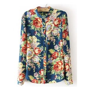Tops - Like new floral button down