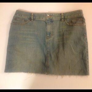 Calvin Klein Dresses & Skirts - Calvin Klein Blue Jean Mini Skirt