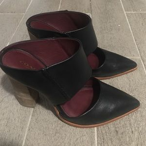 Coach heels clog style leather