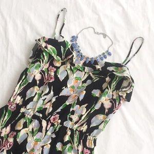 Topshop Pants - TOPSHOP | Black Floral Sleeveless Romper | Size: 6