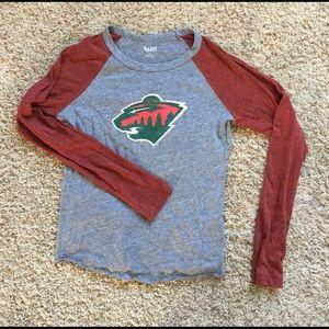 Woman's Touch Apparel Tops - Minnesota Wild long sleeved shirt