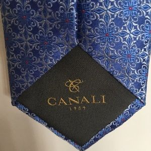 Canali Other - 🎀Canali Blue and Pink floral tie🎀