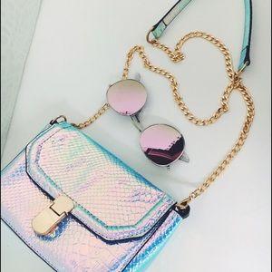Handbags - 🆕 Veda Silver Metallic Mini Crossbody Handbag