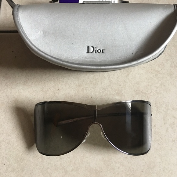 2d9464714712 Dior Accessories - Christian Dior Silver Sunglasses with Case