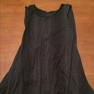 Black lululemon twisted back top
