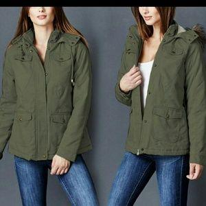 Jackets & Blazers - Olive short parka
