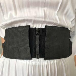 Zero + Maria Cornejo Accessories - Zero + Maria Cornejo black embossed leather belt