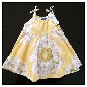GAP yellow and white flower print dress