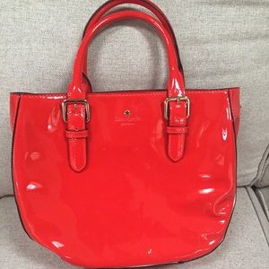 Kate Spade Red Patent Leather Satchel Bag