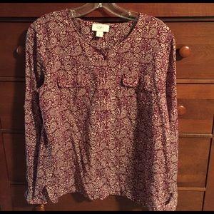Loft Henley style blouse