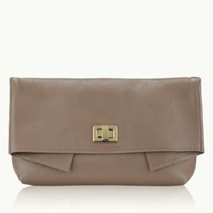 GiGi New York Claire Clutch in Taupe