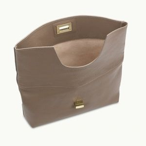GiGi New York Bags - GiGi New York Claire Clutch in Taupe