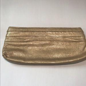 Lauren Merkin Handbags - Lauren Merkin gold embossed leather clutch