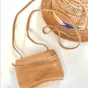 Vintage leather crossbody purse