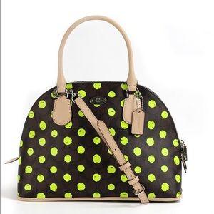 Coach Handbags - Coach Dotted Cora Domed Satchel