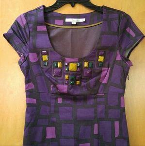Boden Dresses & Skirts - Boden Purple Geometric Print Dress