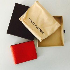 Louis Vuitton Other - Louis Vuitton orange leather wallet