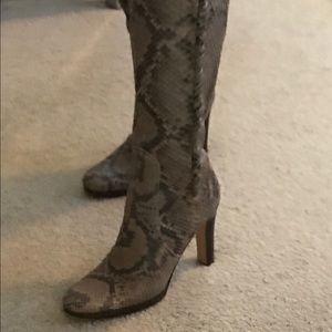 Valentino python boots size 40