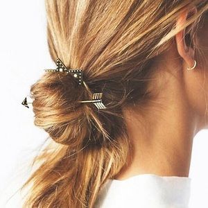 Crown & Arrow Boho Bun Hair Barrette Pin Holder