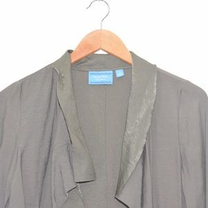Simply Vera Vera Wang Sweaters - Vera Wang Small Olive Green Pocket Light Cardigan