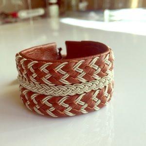 Jewelry - Lapland Sami Reindeer & Pewter Braided Bracelet