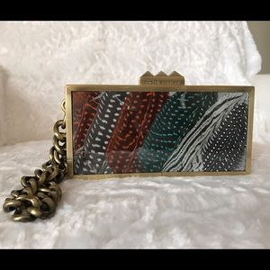 Rachel Roy Handbags - Authentic Rachel Roy feather clutch