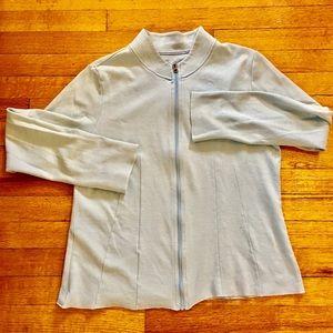 Horny Toad Tops - Horny Toad light blue zip up sweatshirt