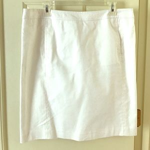 Talbots's White Skirt