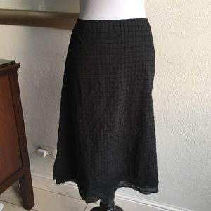 Eileen Fisher A-Line Black Skirt size Small