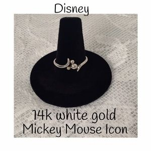 Disney Jewelry - 14k white gold Mickey Mouse Icon ring size 8.5
