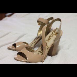 Sam Edelman nude Yamina chunky heels
