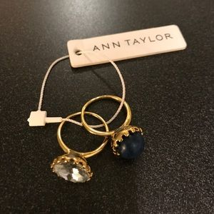 Ann Taylor Jewelry - BNWT size 6 Ann Taylor gold gem rings