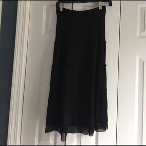 LOFT Dresses & Skirts - Ann Taylor Loft black knit tiered skirt