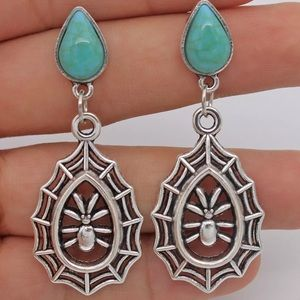 Jewelry - Hollow spider earrings