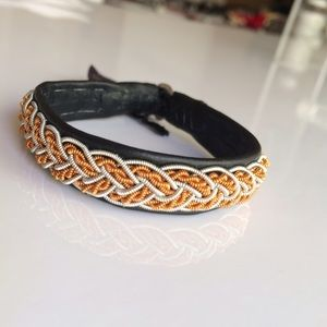 Jewelry - Lapland Sami Reindeer Leather & Pewter Bracelet