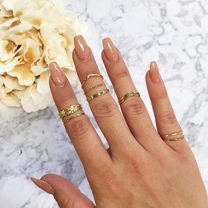Jewelry - Golden Goddess Midi Ring Set