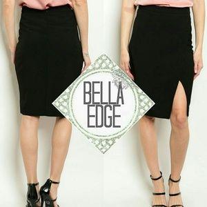 Bella Edge Dresses & Skirts - Black side slit midi skirt