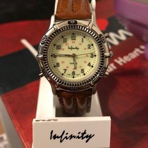 Swatch Accessories - Brand New glow in dark watch. Leather strap. Mint
