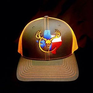 Blood brothers Texas orange cap