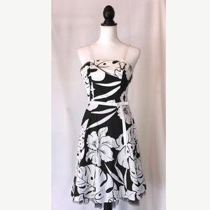 Rampage Dresses & Skirts - Rampage Black & White Floral Cotton Sun Dress