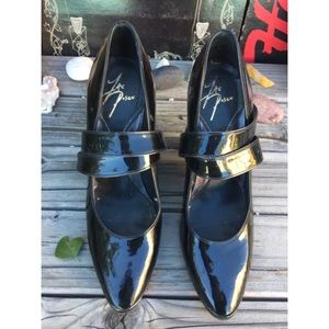 Zac Posen Shoes - ZAC POSEN BLACK PATENT LEATHER HEELS SZ 8.5