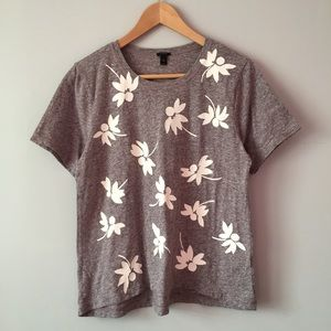 J. Crew Floral Print Short Sleeve T-shirt Top XS