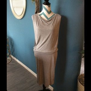 Bench Dresses & Skirts - Bench Gray Fit And Drape Knit Dress, SZ S