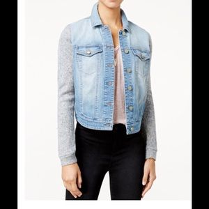Tinseltown Jackets & Blazers - tinseltown Juniors knit selves denim Jacket NWT