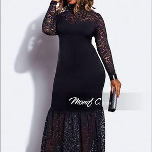 Monif C. Dresses & Skirts - 🐰SALE🎉Black lace dress🎉HOST PICK 🎉
