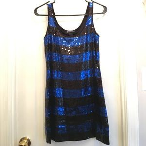 Dresses & Skirts - Black and blue sequined mini dress - size S