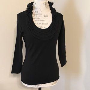 Black 3/4 length sleeve sweater