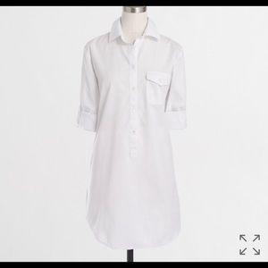 J.Crew Factory White Long Sleeved Popover Tunic