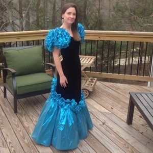 MIKE BENET Vintage 80s Formal Gown