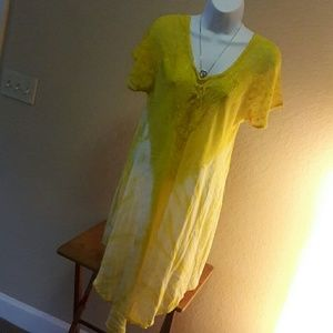 Sante Classic Dresses & Skirts - ❤ NWT Asynnetrical Dress Yellow and White EUC